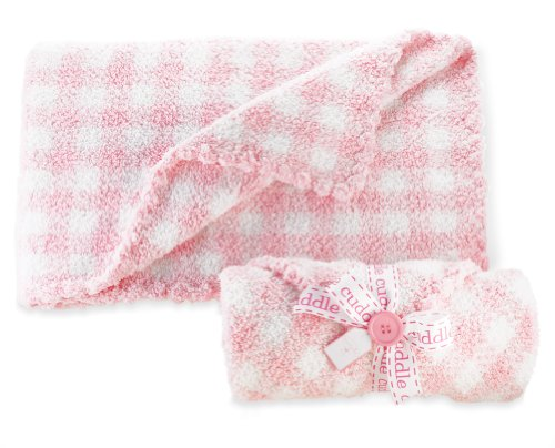 Mud Pie Baby Gingham Chenille Blanket, Pink/White