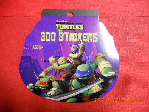 Teenage Mutant Ninja Turtles Stickers 300 on a Pad - 1