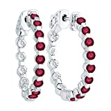 Alternating 0.06 ct. Diamond with 1 5/8 ct. Ruby