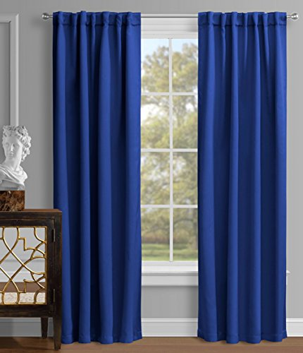 Luxury Homes Premium Quality Thermal Insulated Blackout Curtains, Rod Pocket / Back Tab, 52