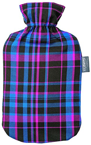 Fashy 2 L Red Tartan Covered Hot Water Bottle (Hot Water Bottle English compare prices)