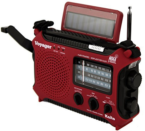 Kaito KA500RED 5-Way Powered Emergency AM/FM/SW Weather Alert Radio, Red Color: Red, Model: KA500RED, Gadget & Electronics Store