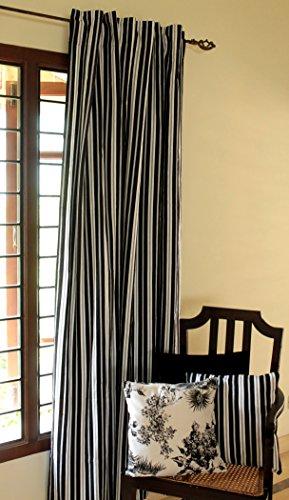 Blue Alcove Delhi Stripes Door Curtain - 55