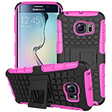 buy Mama Mouth Shockproof Heavy Duty Combo Hybrid Rugged Dual Layer Grip Case Cover With Kickstand For Samsung Galaxy S6 Edge (With 4 In 1 Free Gift Packaged:Black Stylus Touch Pen,Black Silicone Fish Headset Wrap,Black Micro Usb Port Anti Dust Plugs,Black 3.