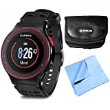 Garmin Forerunner 225 GPS Running Watch W/ Heart Rate - Black/Red Bundle Includes Forerunner 225, Case And Microfiber...