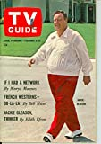 1965 TV Guide Feb 6 Jackie Gleason ft: Man from UNCLE Gun - Chicago Edition Excellent (5 out of 10) Lightly Used by Mickeys Pubs