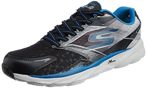 Skechers Performance Men's Go Run Ride 4 Running Shoe, Gray/Black/Blue, 11.5 M US