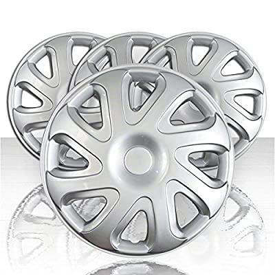 "Set of Four 14"" Silver ABS Wheel Covers for 2000-2002 Toyota Corolla (Push-on)"