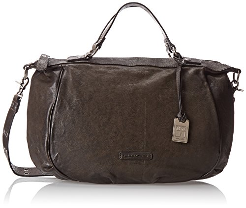 FRYE Becca Satchel Top Handle Handbag,Smoke,One Size