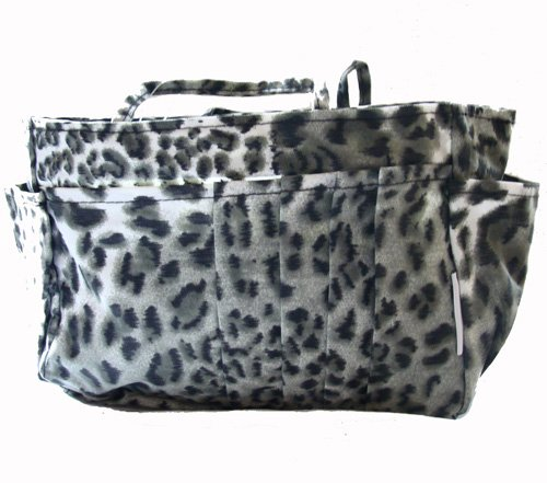 The Plaid Purse Bag Organizer  Black Leopard Print