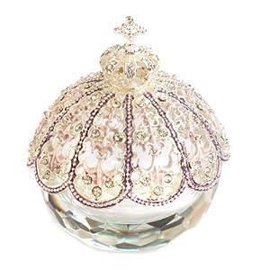 <【ネット限定】 ブリリアントクラウン (バイオレット)> ピィアースネット販売でしか買えない限定カラー☆ ピィアース 『HOT PEPPER』に掲載されました! トゥインクルボックス キラキラガラスの小物入れ 置物 宝石箱 女性が喜ぶ可愛いプレゼント♪ 誕生日プレゼント 自分へのご褒美♪ 【ピィアース直営ショップ】 X\'mas