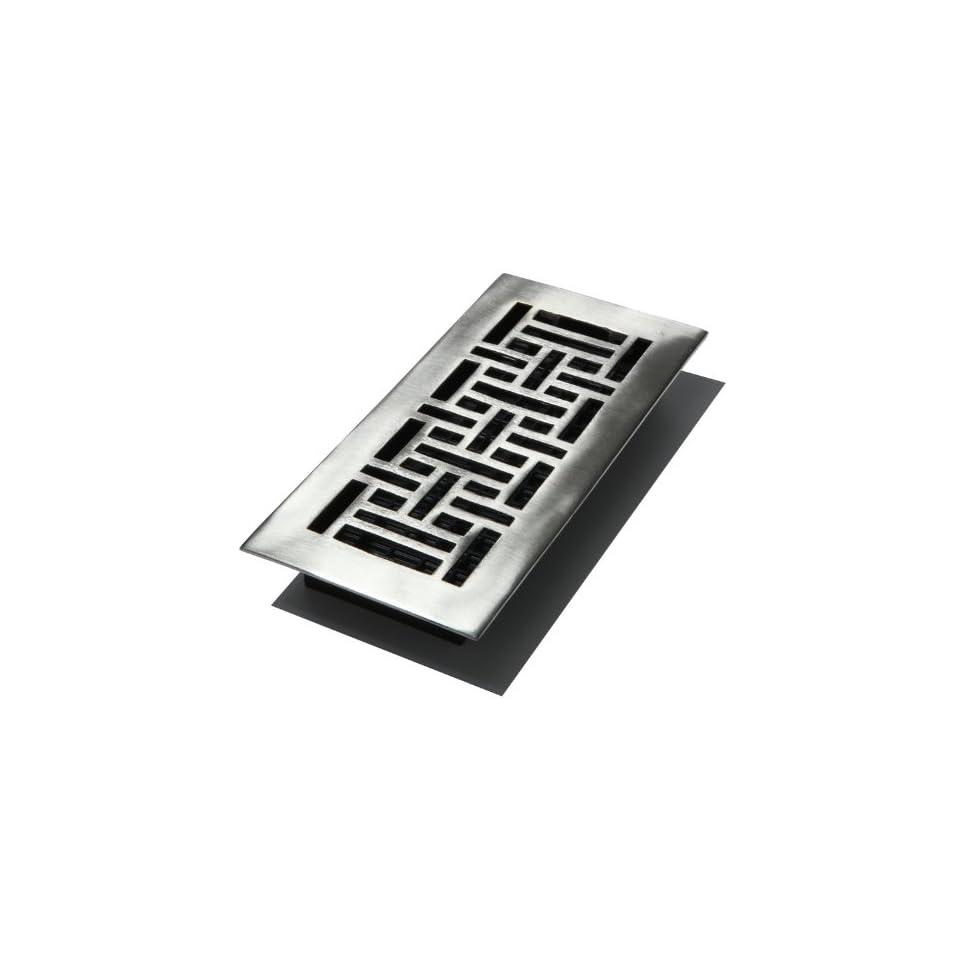 Decor Grates AJ410 NKL 4 Inch by 10 Inch Oriental Floor
