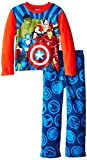 Marvel Little Boys' Avengers Assemble Comics Cozy Fleece Pajama Set