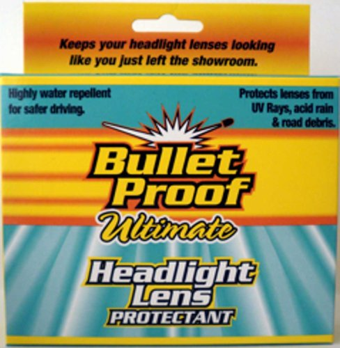 Bulletproof Headlamp Headlight Lens Protector, Rain Repellent Coating and Deep Cleaner