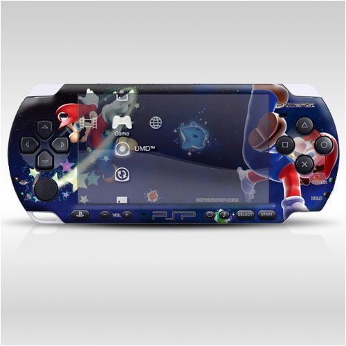 Pacers Super Mario Decorative Protector Skin Decal Sticker For Psp-3000 Item No.0858-27