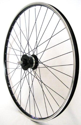 28-Zoll-Fahrrad-Laufrad-Vorderrad-Shimano-Dynamo-DH3N20-schwarz