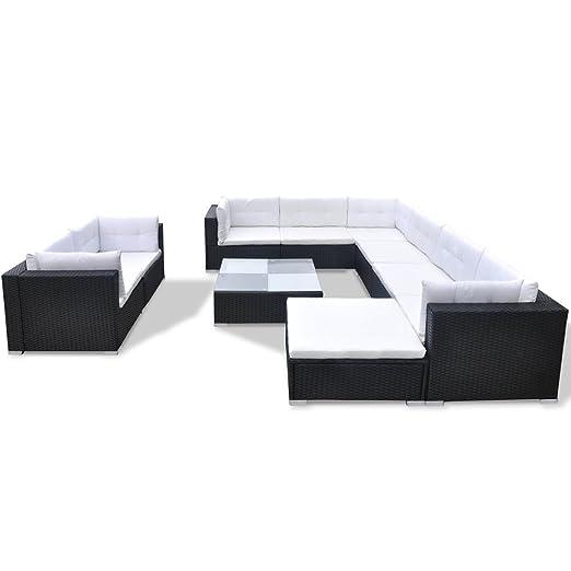 vidaXL 32tlg. Poly Rattan Gartenmöbel Set Garten Sofa Gartengarnitur Lounge Sitzgruppe