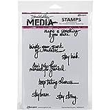 """Dina Wakley Media Cling francobolli quotazioni 6 """"X 9""""-scritta a mano"""