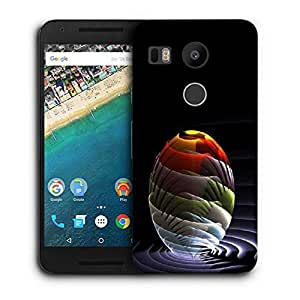 Snoogg Waves Globe Printed Protective Phone Back Case Cover For LG Google Nexus 5X
