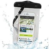 Wicked Chili Beachbag für Apple iPhone 6 (4,7 Zoll), 5, 4, 3,  iPod Touch - Schutzhülle für Strand, Wandern, Outdoor (Schutz gegen Staub, Sand, Nässe / wasserdicht bis 3m Tiefe / IPx8)