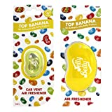 JELLY BELLY TOP BANANA AIR FRESHENER SCENT SET 3D HANGING + CAR VENT CLIP