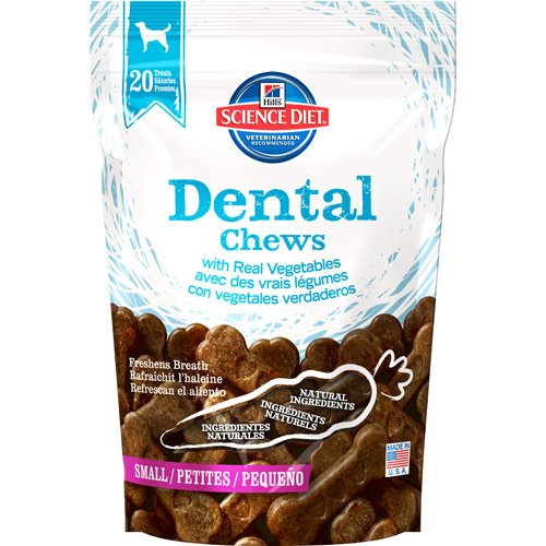 Hills Science Diet Dental Chews with Real Vegetables Small Dog Food, 12-Ounce Pouch