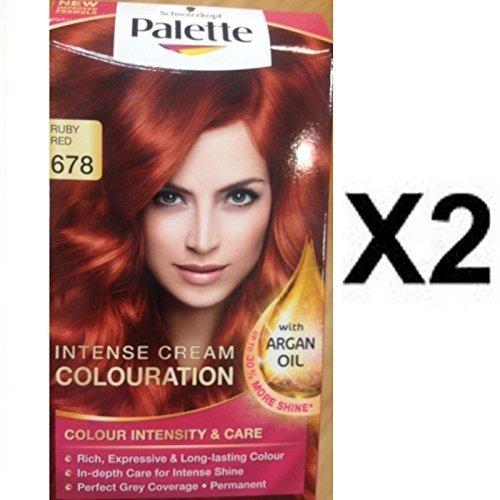 neuf schwarzkopf palette coloration cheveux teinture 678 rubis rouge x 2 lot maintenant avec huile d - Palette Coloration Cheveux