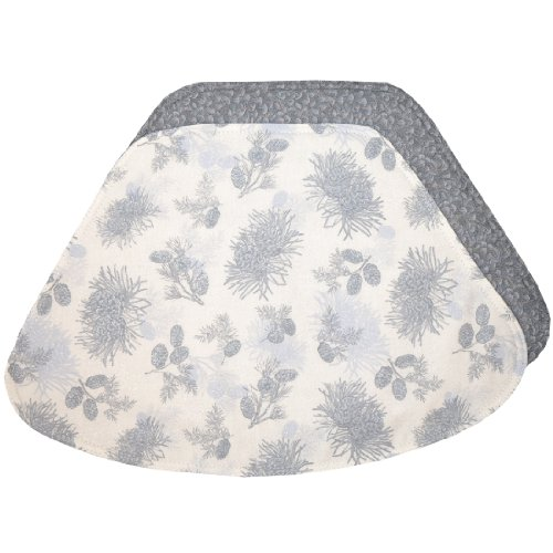 Incroyable If You Are Look For An Silver Grey Pinecones Wedge Shaped Placemat For Round  Tables   . Take A Look Here You Will Find The Prices And Many Offers.