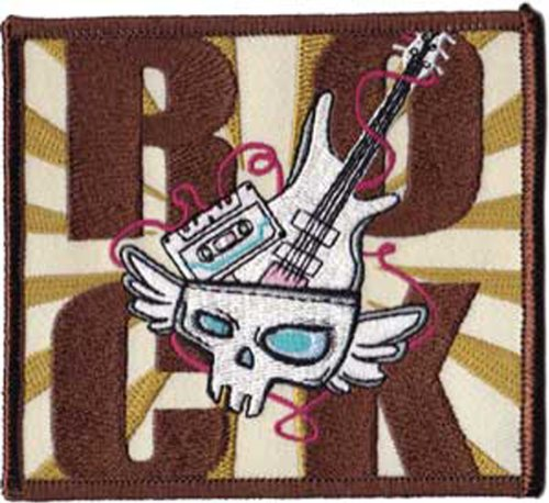 Application Rock Skull and Guitar Patch