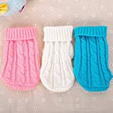 Alcoa Prime 3 Colors Pet Winter Warm Knitted Sweater Coat Clothes Outwear Apparel Knitwear Clothing For Dogs Puppy...
