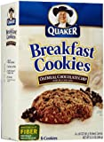 Quaker Breakfast Cookies, Oatmeal Chocolate Chip, 10.1 oz