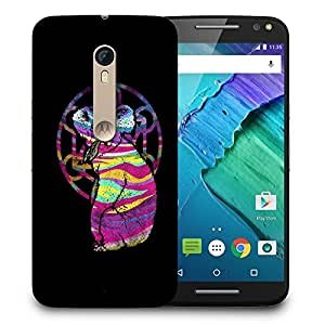 Snoogg Colorful Animal Designer Protective Back Case Cover For MOTO X STYLE