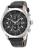 [セイコー]Seiko Watches 腕時計 Seiko Quartz Chronograph Black Dial Leather Band Watch SPC167P2 メンズ [並行輸入品]