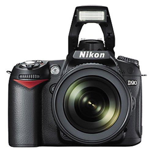 Nikon-D90-123MP-Digital-SLR-Camera-Black-with-AF-S-18-105mm-VR-Lens-and-AF-S-DX-VR-Zoom-NIKKOR-55-200mm-f4-56G-IF-ED-Twin-Lens-4GB-Card-Camera-Bag