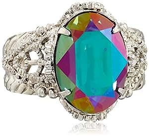 "Sorrelli ""Emerald City"" Petite Crystal Oval Ring"
