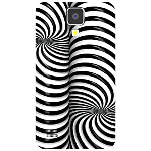 Samsung I9500 Galaxy S4 Back Cover - Zig Zig Line Illusion Designer Cases