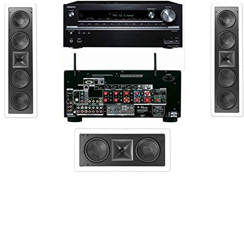 Klipsch Kl-6504-Thx In-Wall Lcr Speaker-3.0 Onkyo Tx-Nr838 7.2 Channel Network- White