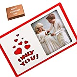 Valentine Gifts-Only You Photoframe With Valentine Chocolate Bar