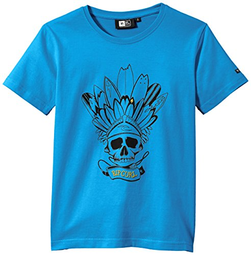 Rip Curl Skullboard - Maglietta a maniche corte da bambino, bambini, Skullboard, Blu svedese, 14 anni