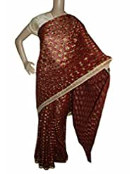 Beautiful RUDA Designer Phulkari Embroidered Saree-JS1099