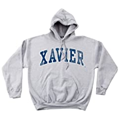 NCAA Xavier Musketeers 50 50 Blended 8-Ounce Vintage Arch Hooded Sweatshirt,... by SDI