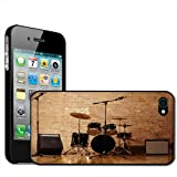 Fancy A Snuggle Warm Up Ready Drum Set and Amplifiers Clip On Back Cover Hard Case for Apple iPhone 44S