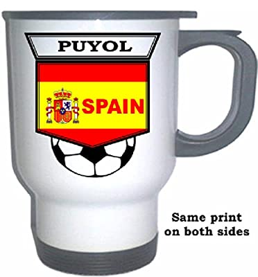 Carles Puyol (Spain) Soccer White Stainless Steel Mug