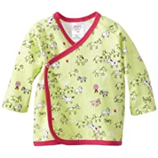 Zutano Baby-Girls Newborn My Pony Kimono Top, Hay, New Born/Preemie