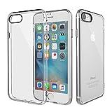 iPhone 7 ケース ROCK 正規品 耐衝撃 カバー ストラップホール付き フラッシュガード機能 四角とレンズ保護 iPhone7ケース スマホケース クリアタイプ TPU素材 薄型 軽量 (クリア)