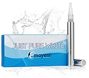 Teeth Whitening Pen - Latest Premium Gel From California - Professional High Grade Kit - Zero Peroxide & No Strips - Natural Ingredients - *FREE* Hollywood's Dentist Tips *FREE* Weight Loss Tips