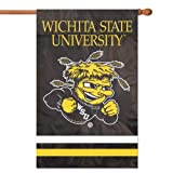 Party Animal AFWSU Wichita State University Shockers 2 Sided Large House Flag Banner