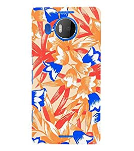 Abstract Floral Painting 3D Hard Polycarbonate Designer Back Case Cover for Nokia Lumia 950 XL :: Microsoft Lumia 950 XL