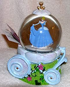 Disney Cinderella Carriage Musical Snow Globe Waterball with Blowing Snow by Kcare