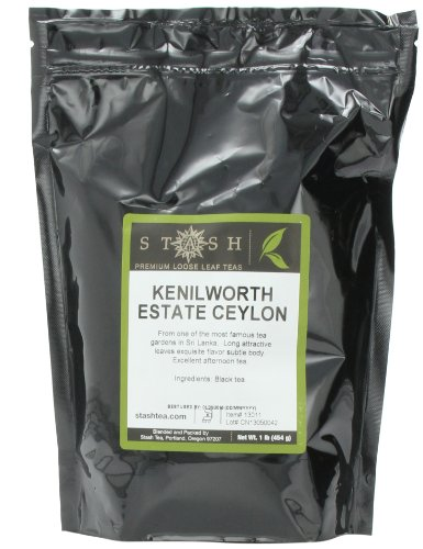 Stash Tea Kenilworth Estate Ceylon Black Loose Leaf Tea, 16 Ounce Pouch